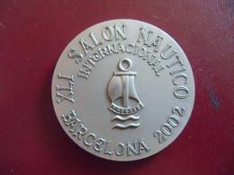 Médaille De Table Bronze Salon Nautico Barcelona 2002.Compania Trasmediterranea. - Sin Clasificación