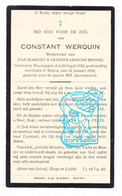DP Constant Werquin ° Westcappel West-Cappel FR Nord 1854 † Watou Poperinge BE 1934 X J. Blaevoet Xx A. Bruneel - Imágenes Religiosas