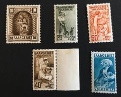 SARRE 1925  Série Complète 5 Valeurs YT 102 à 106 / Mi 103 To 107 - Neufs Avec Charnière MH * - Cote YT 81€ - Ungebraucht