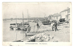 "Vintage Postcard Sussex 1903 "" Littlehampton "" The Harbour Used. See Description AA - Altri"