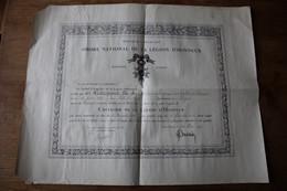 Diplôme Ordre National De La Légion Honneur 53 Bataillon De Chasseurs Tableau Spécial  Du 13 Aout 1914 - 1914-18