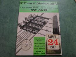 Sté Ame Des Ets GRANDCOING - Calendrier Perpétuel Et Thermomètre - Autres