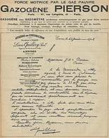Y9653 Gazogéne PIERSON - Louis Quillery Succ. - Pubblicità D'epoca - 1908 Old Ad - Pubblicitari