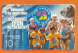 Mobicarte 10 € Lyon  Marathon - Kaarten Voor De Telefooncel (herlaadbaar)