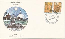 Sri Lanca FDC 3-5-1979 Vesak With Cachet - Sri Lanka (Ceylon) (1948-...)