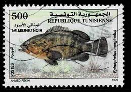 Tunesien 1999,Michel# 1436 O Dusky Grouper (Epinephelus Marginatus) - Tunesië (1956-...)