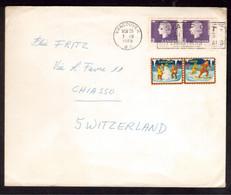 EW143    Canada VANCOUVER 1965 Cover Lettre To SWITZERLAND, Elisabeth II - 3c + Cinderella - Covers & Documents