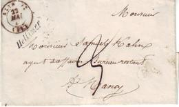 MEURTHE / MOSELLE - LSC - Cursive 55 Hellimer + Tàd T15 ALTROFF (52) Pour Nancy (52) - 1801-1848: Voorlopers XIX