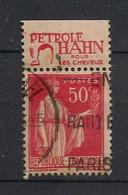France - 1932-33 - N°Yv. 283 - Paix 50c Rouge - Avec Bande Publicitaire - Oblitéré / Used - Usados