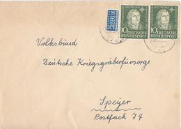 Bund Brief Mef Minr.2x 149 Köln Gel. Nach Speyer - Storia Postale