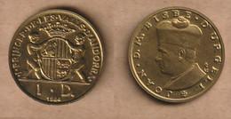 ANDORRA  1 Diner - (Joan D'Urgell I) 1984  Brass • 6.5 G • ⌀ 25 Mm KM# 15 - Andorra