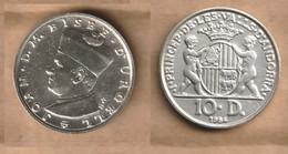ANDORRA  10 Diners -  (Joan D'Urgell I) 1984  Silver (.900) • 8 G • ⌀ 26 Mm KM# 17 - Andorra