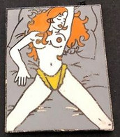 PIN UP - ROUQUINE - COUCHEE - ZONE G - PINUP - PIN-UPS -         (ROUGE) - Pin-ups