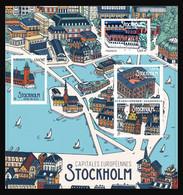 France 2021 -  Bloc-feuillet - Capitales Européennes Stockholm ** - Ungebraucht