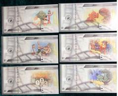Ukraine - Set 6 Banknotes 5 Hryven 2021 UNC Cartoons From Childhood Souvenir Lemberg-Zp - Ukraine