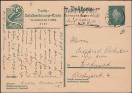 Germany - 8 Pf. Ganzsache P 187 'Reich Unfallverhütungs-Woche 1929'. HALLE 3.4.1929 - Erfurt. - Interi Postali