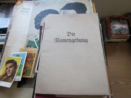 Die Namengebung - Old Books