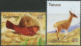 PERU 2018 Fauna Of Peru Oilbird Taruca Bird Birds Animals MNH - Otros