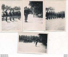 4 Photos (6 X 8 Cm) : Lamotte-Beuvron - Remise De La Légion D'Honneur Au Lieutenant Soulier (juillet 1942) (voir Verso) - Oorlog, Militair