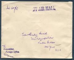 1951 Burma Airmail Cover, Rangoon Cantonment Foreign Office Despatcher - Secretary General, United Nations, New York USA - Myanmar (Birmanie 1948-...)