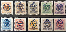 SUEDE                     N° 76/85                   NEUF SANS GOMME - Unused Stamps