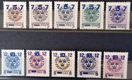 SUEDE                     N° 112/121                  NEUF SANS GOMME - Unused Stamps