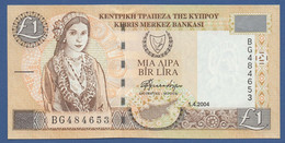 CYPRUS - P.60d – 1 Pound / Lira 2004  UNC (vari Prefissi Disponibili) - Cyprus