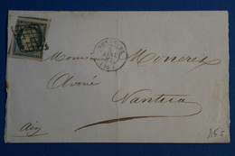 R4 FRANCE BELLE LETTRE RARE DEVANT 5  JANVIER 1852 BORDEAUX  POURNANTUA + VOISINS + N4 + AFFRANCHISSEMENT INTERESSANT - 1849-1850 Ceres