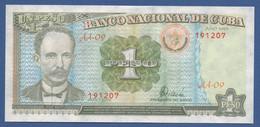 CUBA - P.112 – 1 Peso 1995 - AUNC Prefix AA09 - Kuba