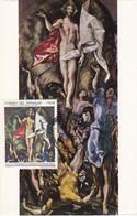Carte Maximum Painting Peinture Paraguay El Greco The Resurrection - Paraguay