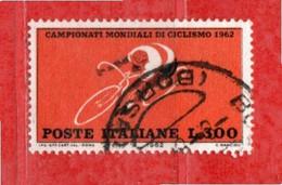 Italia °- 1962 - Mondiali Di CICLISMO. Lire 300 Unif. 946.  Usato - 1961-70: Oblitérés