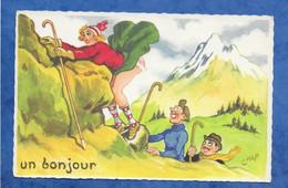 CPA Jean Chaperon Humour Grivois Pin Up Un Bonjour Montagne - Ed Picard Non Voyagée - Chaperon, Jean