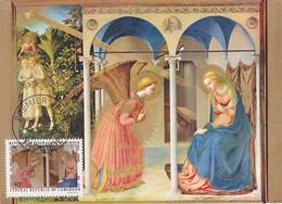 Carte Maximum Painting Peinture Cameroun 1971 Ecole De Fra Angelico Annonciation - Cameroon (1960-...)