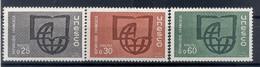 France 1966 - Y & T  N. 36/38 - UNESCO (Michel N. 6/8) - Neufs