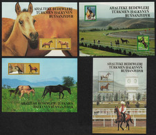 Turkmenistan Akhal-Teke Horses 4 Sheets 2005 MNH SG#MS120-MS121 CV£42.50 - Turkmenistan