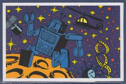 Un Siècle De Sciences Robot Carte Postale De Hervé Di Rossa Tenant à Pub Thème L'ADN N°3423 à La Place Du Timbre - Postzegels (afbeeldingen)