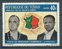 Tchad YT N°243 Visite Du Président Pompidou Oblitéré ° - Tsjaad (1960-...)