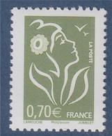 Marianne De Lamouche Phil@poste 0.70€ Vert Olive N°3967 Neuf - 2004-08 Maríanne De Lamouche