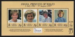 BIOT Diana Princess Of Wales Commemoration MS 1998 MNH SG#MS214 BELOW FACE VALUE - Territoire Britannique De L'Océan Indien