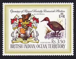 BIOT White-throated Rail Bird Coat Of Arms 1971 MNH SG#40 - Territoire Britannique De L'Océan Indien