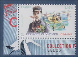 Coin Numéroté Bas De Feuillet Georges Guynemer Et Son Biplan 5.10€ X1 Numéroté 88005 Timbre N°PA81 - 1960-.... Ungebraucht