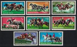 Hungary Horses Equestrian Sport 8v 1971 MNH SG#2620-2627 MI#2703A-2710A CV£9.05 - Ongebruikt