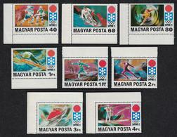 Hungary Winter Olympic Games Sapporo Japan 1972 8v Margins 1971 MNH SG#2637-2644 CV£5.15 - Ongebruikt