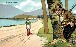 CPA - WW1 WWI Propaganda Propagande - Giovanni Giolitti - Bandiera Italiana, Tricolore - Humour Satirique - NV - PV435 - Oorlog 1914-18
