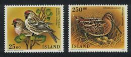 Iceland Redpoll Snipe Birds 2v 1995 MNH SG#848-849 - Ongebruikt