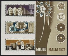 Malta Christmas MS 1973 MNH SG#MS510 - Malta