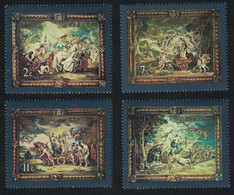 Malta Flemish Tapestries Paintings By Rubens 4v 1979 MNH SG#615-618 - Malta