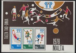 Malta World Cup Football Championship Argentina MS 1978 MNH SG#MS604 - Malta