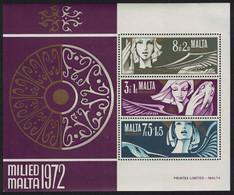 Malta Christmas MS 1972 MNH SG#MS485 - Malta