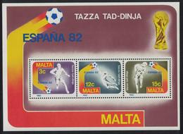 Malta World Cup Football Championship Spain MS 1982 MNH SG#MS697 MI#Block 7 - Malta